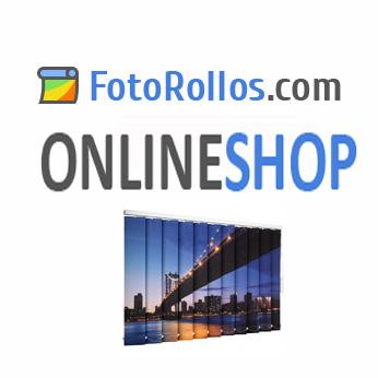 Das Fotorollo einfach selbst gestalten, ob mit eigenem Foto, Logo oder Motiv aus einer der Bilder-Datenbanken.